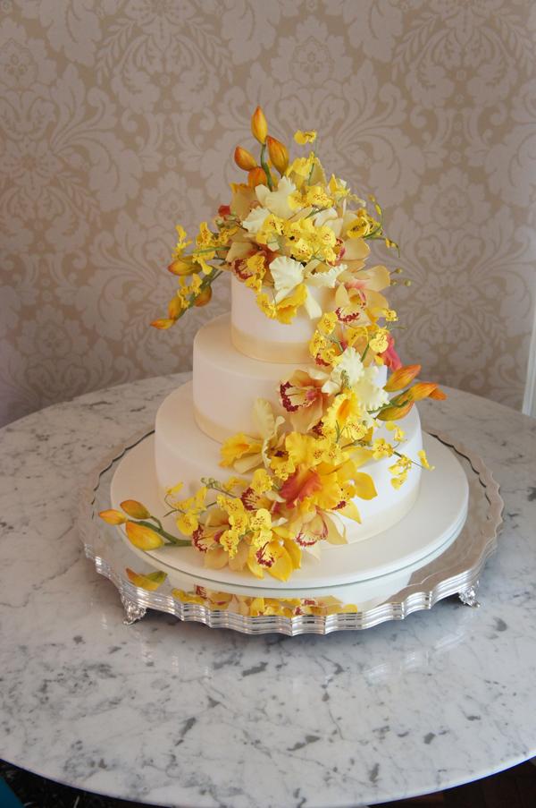 Yellow Sugar Flower Wedding