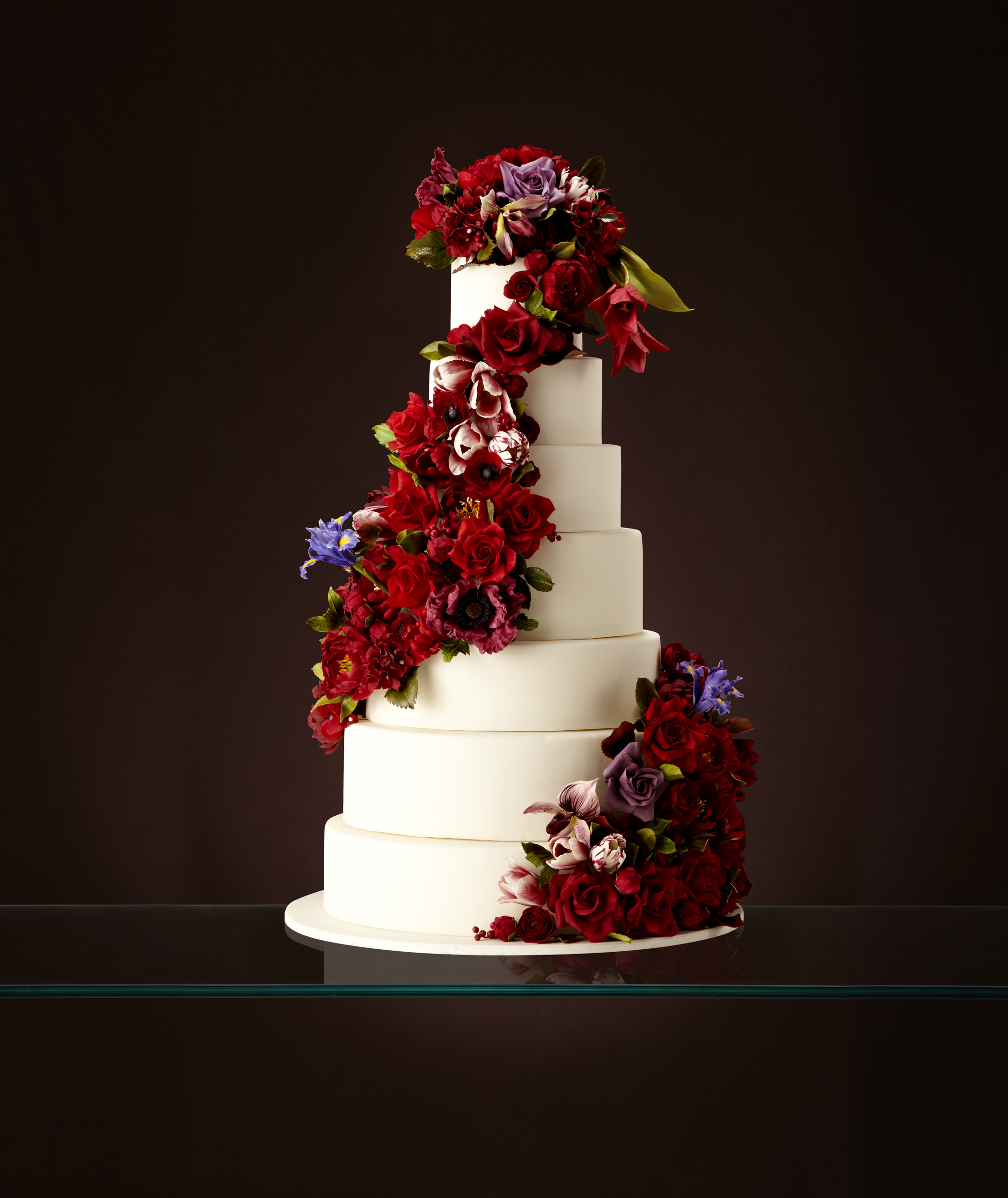 Cascading Rose Wedding