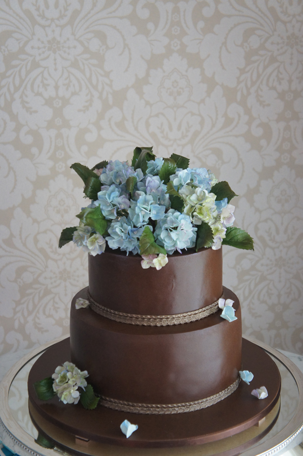Chocolate with Sugar Flowers
