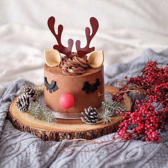 Mini reindeer cake