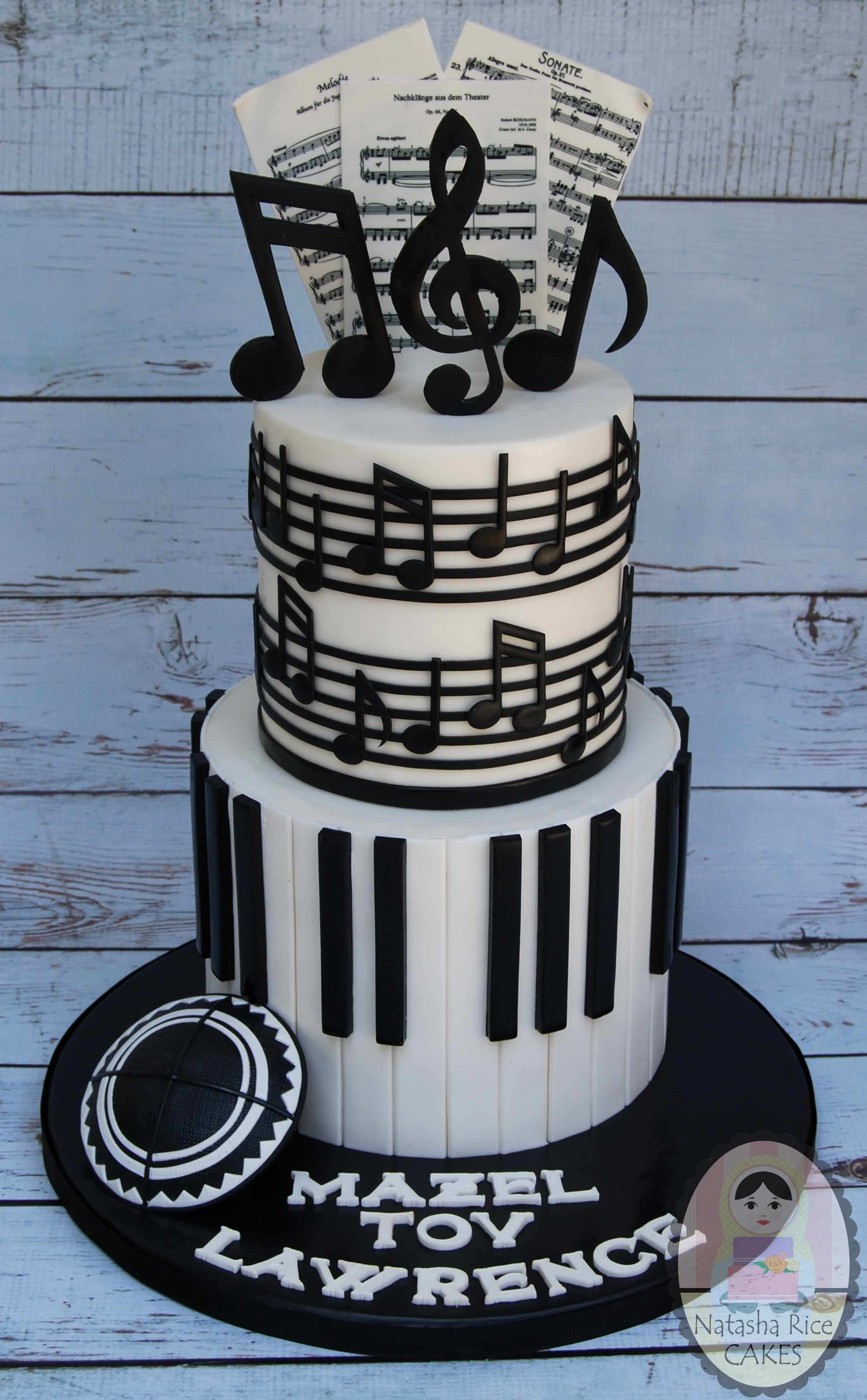 Black and White Piano Birthday