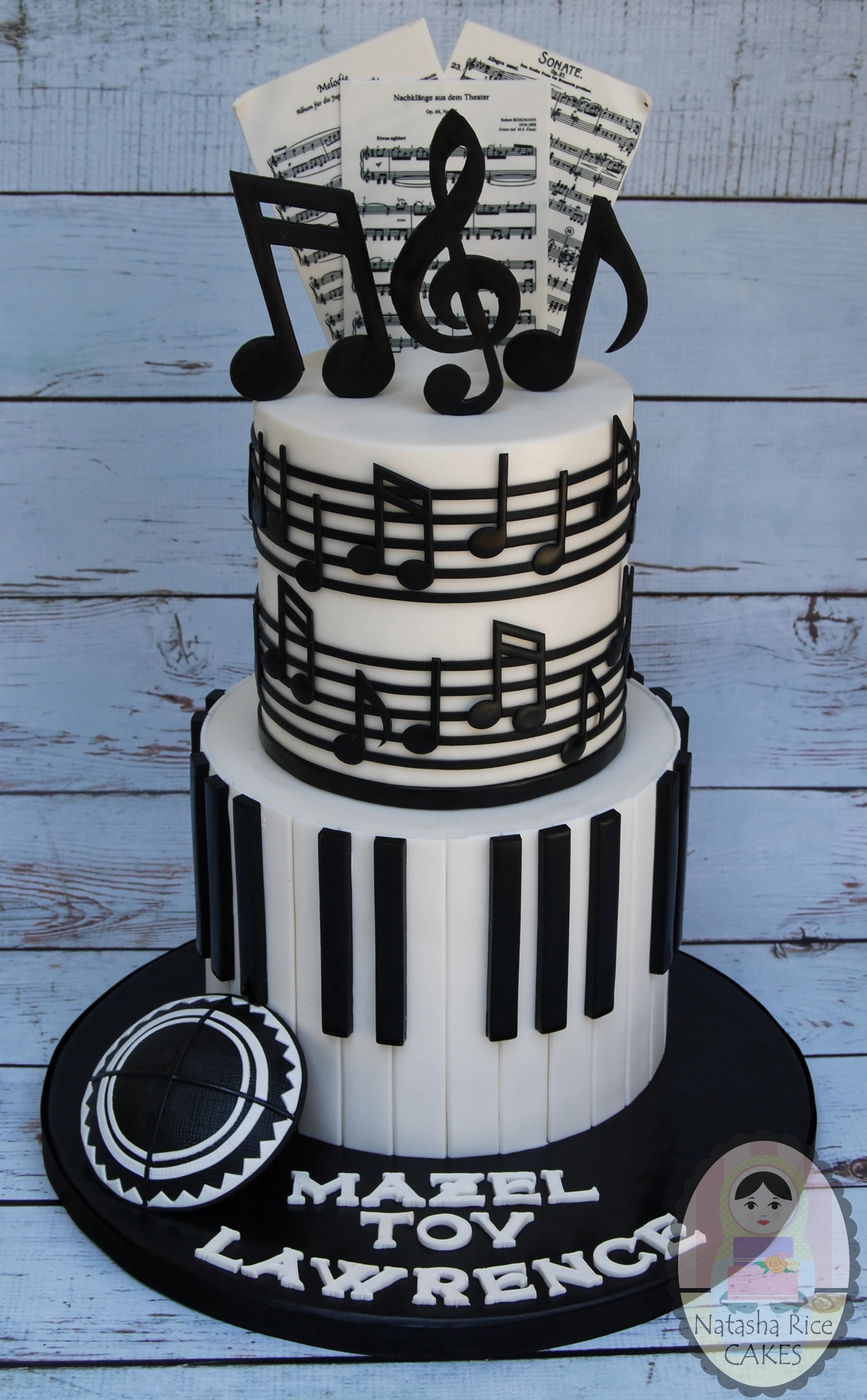 Black and White Piano Birthday