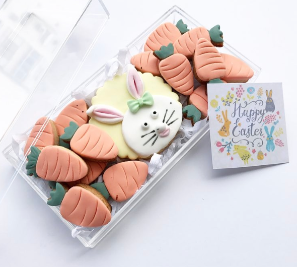 Easter themed fondant cookies