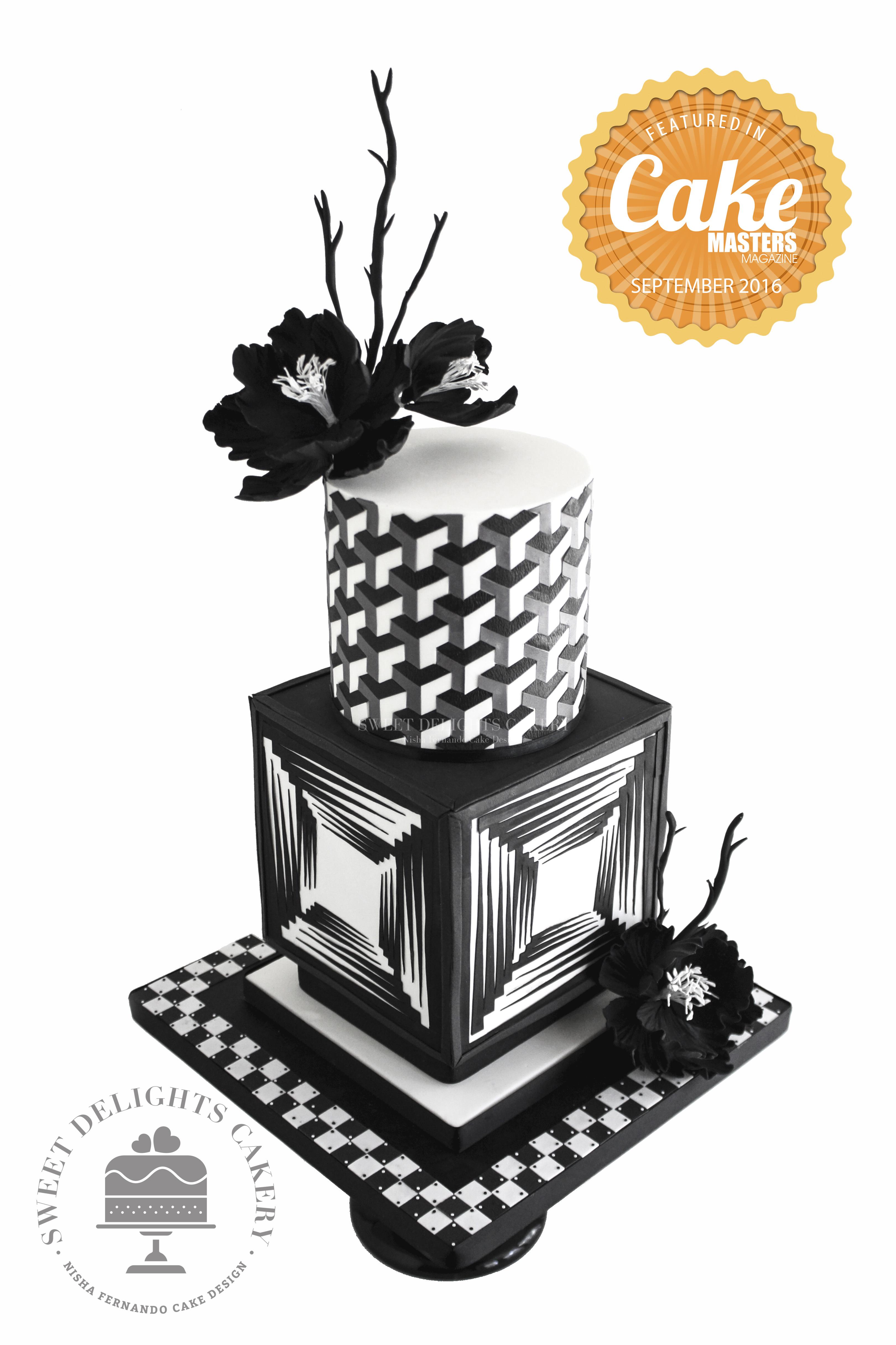 Black and White Geometric Wedding