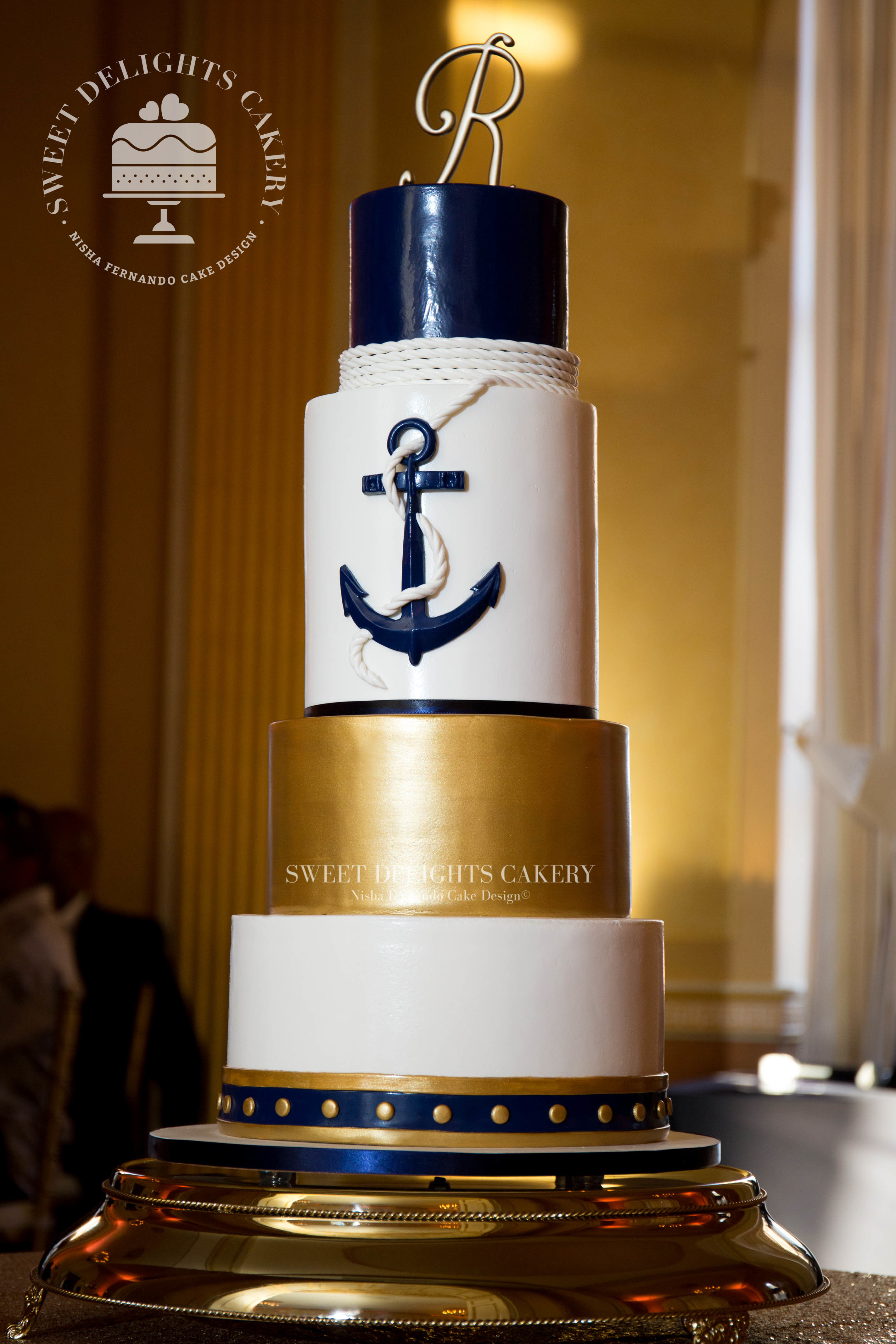 Gold and Navy Nautical Wedding