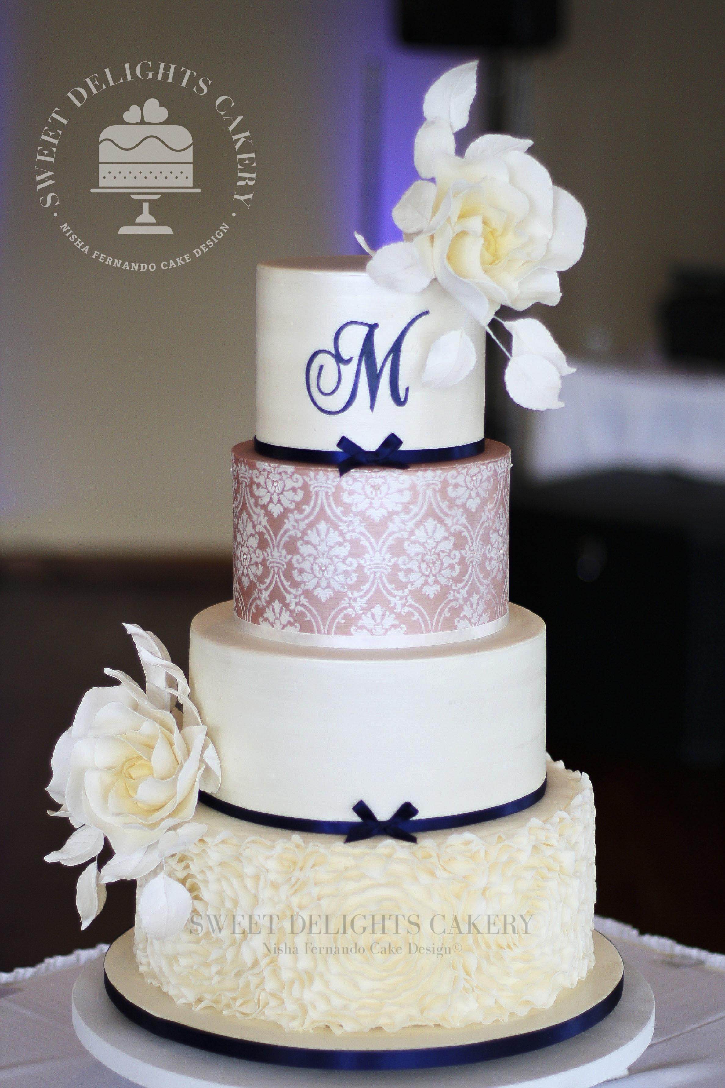 Monogramed white wedding