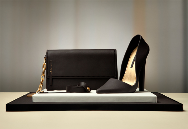 Black Handbag & Heels
