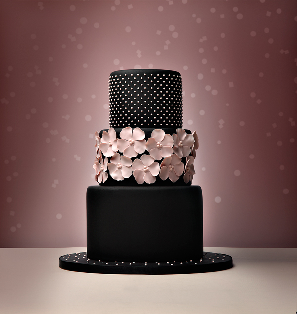 Black with Pink Roses