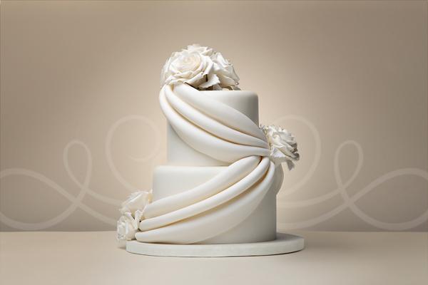 Draping Wedding Cake