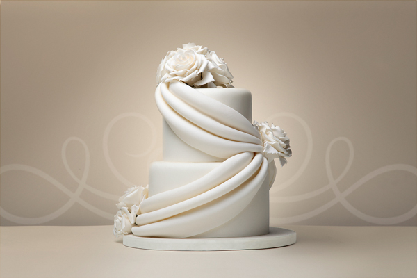Draping Wedding Cake