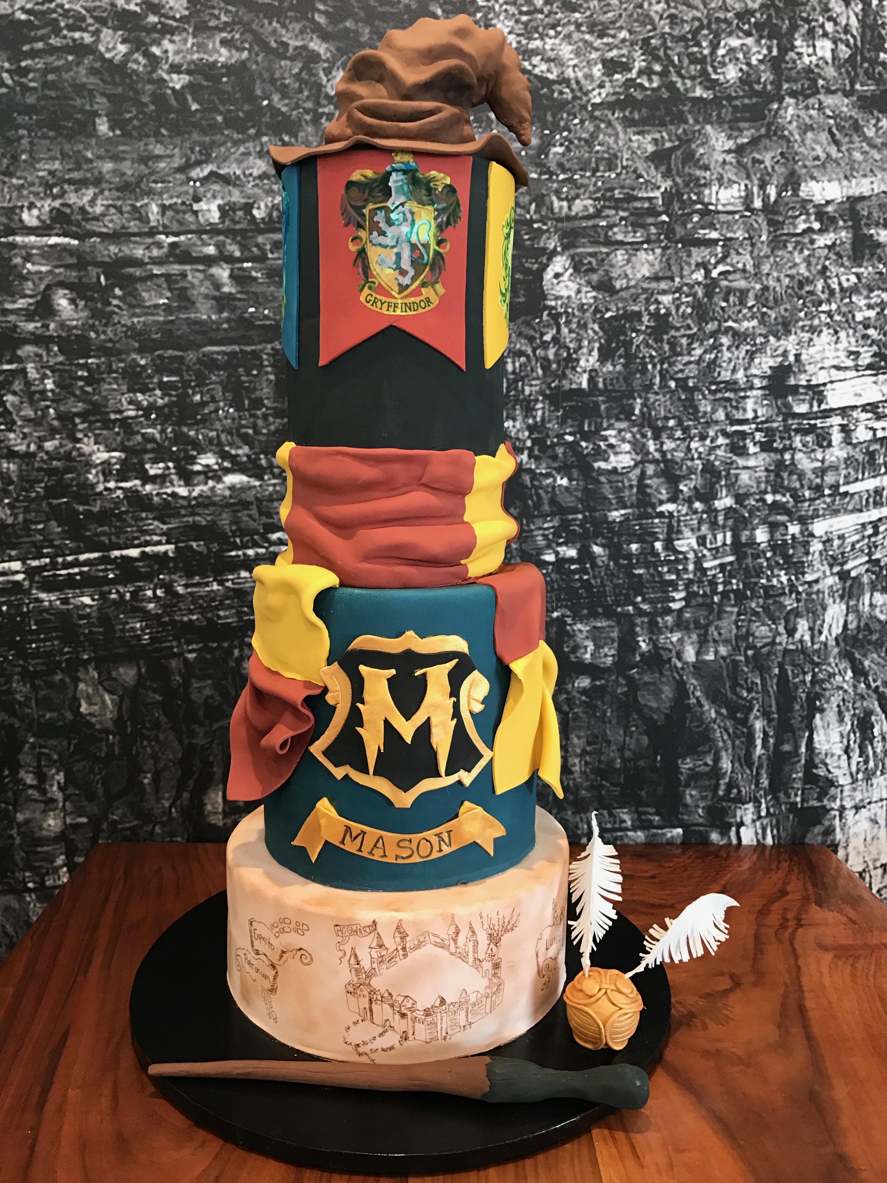 Red & Yellow Harry Potter Birthday cake