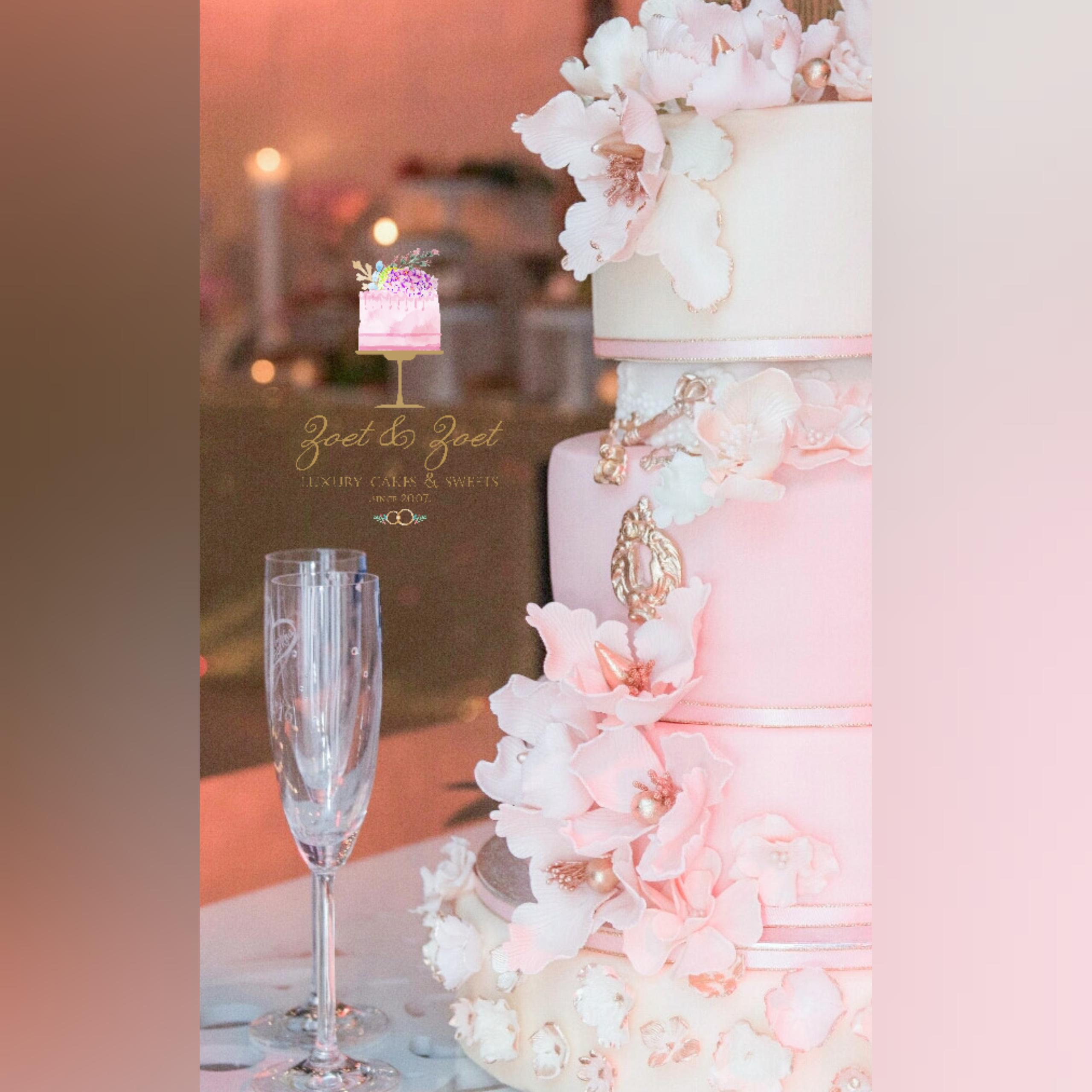 Pink and White Victorian flower wedding