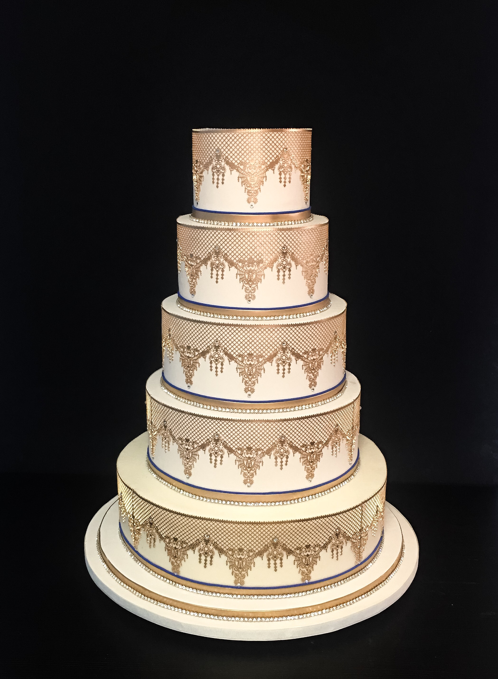 Ivory and gold lace wedding