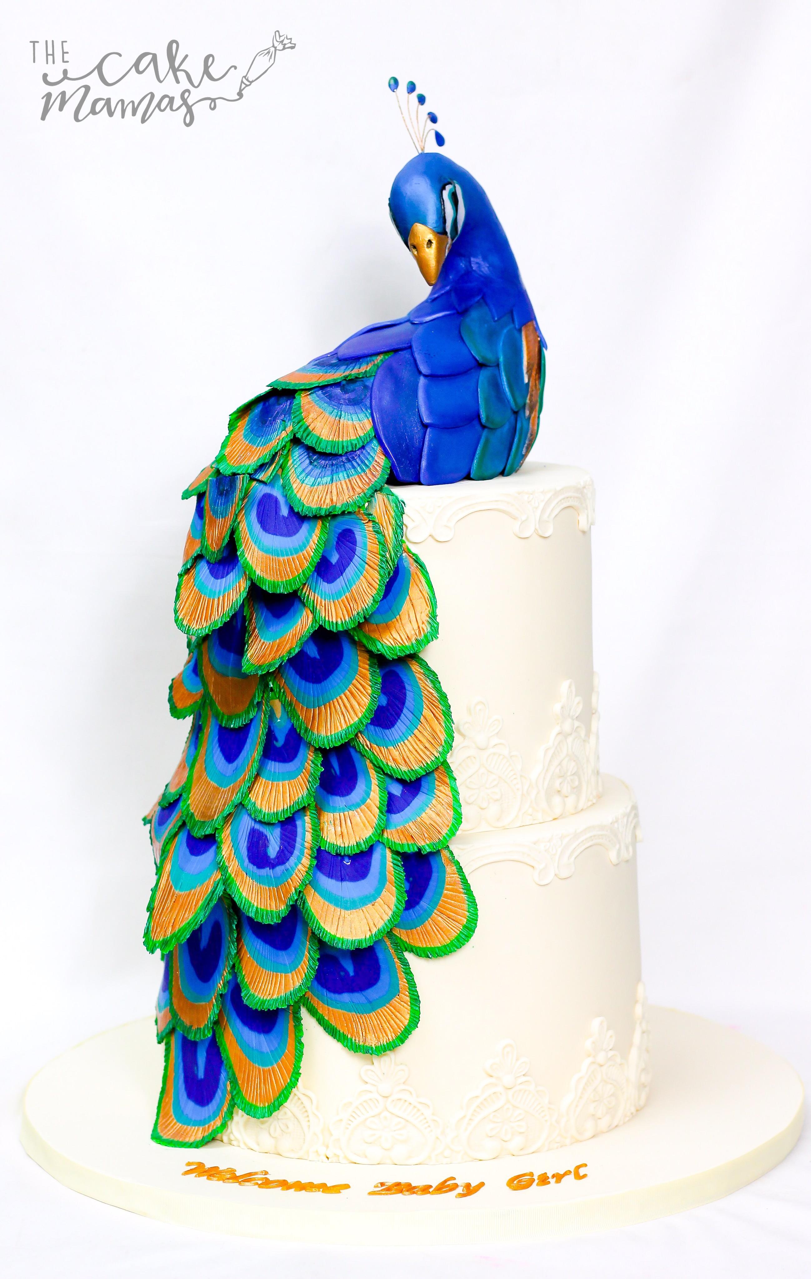 Gum Paste peacock