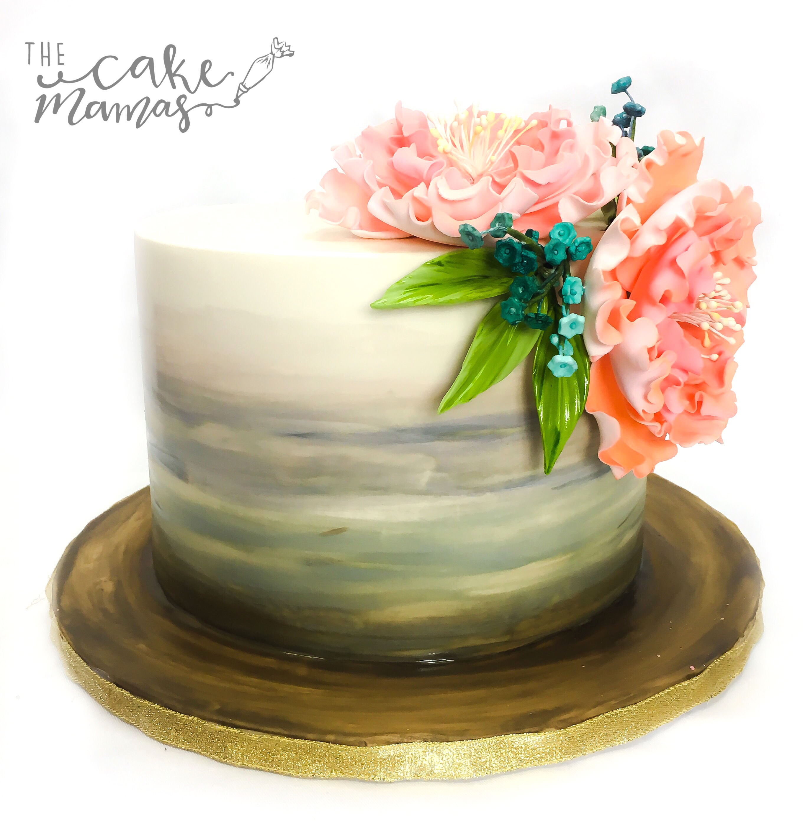 Mini ivory cake with sugar flower