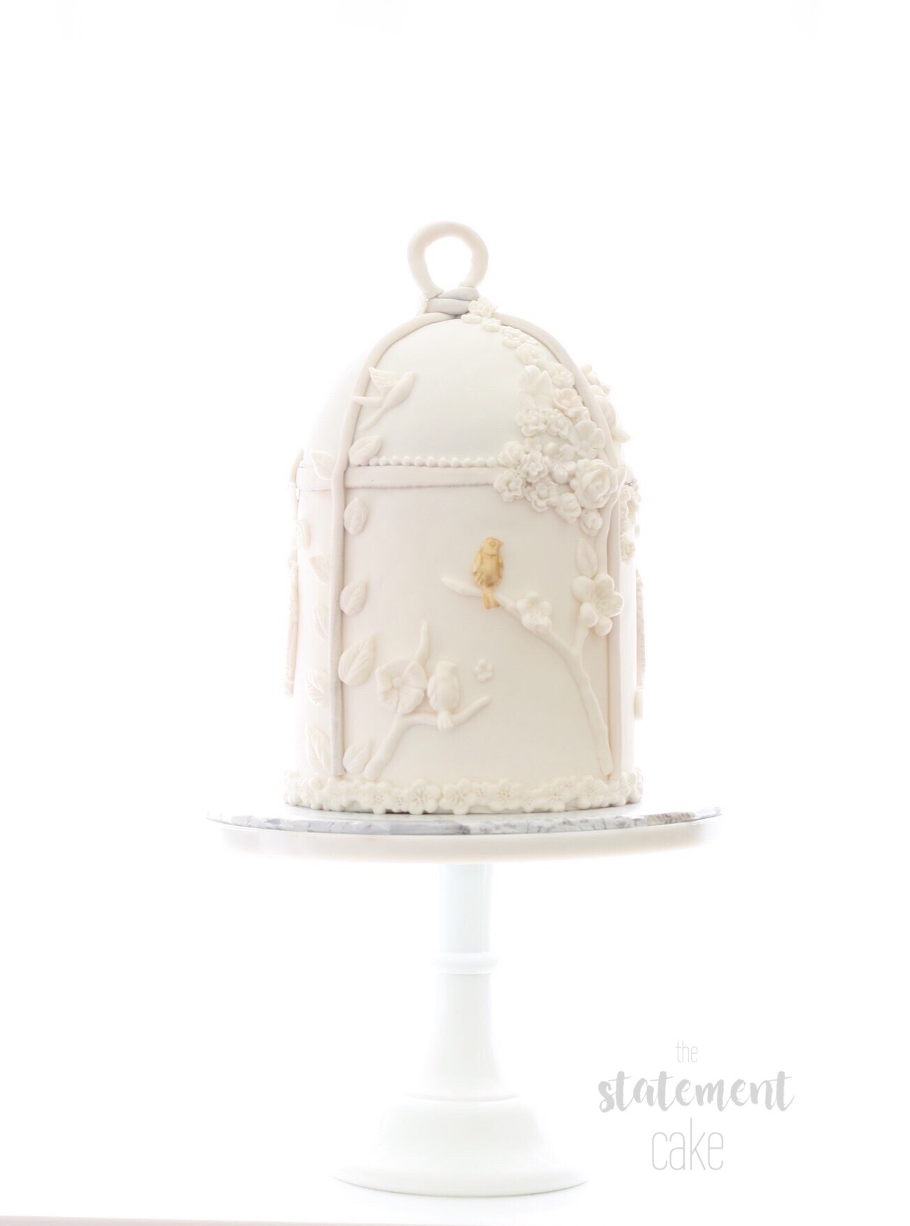 Birdcage shaped wedding cake