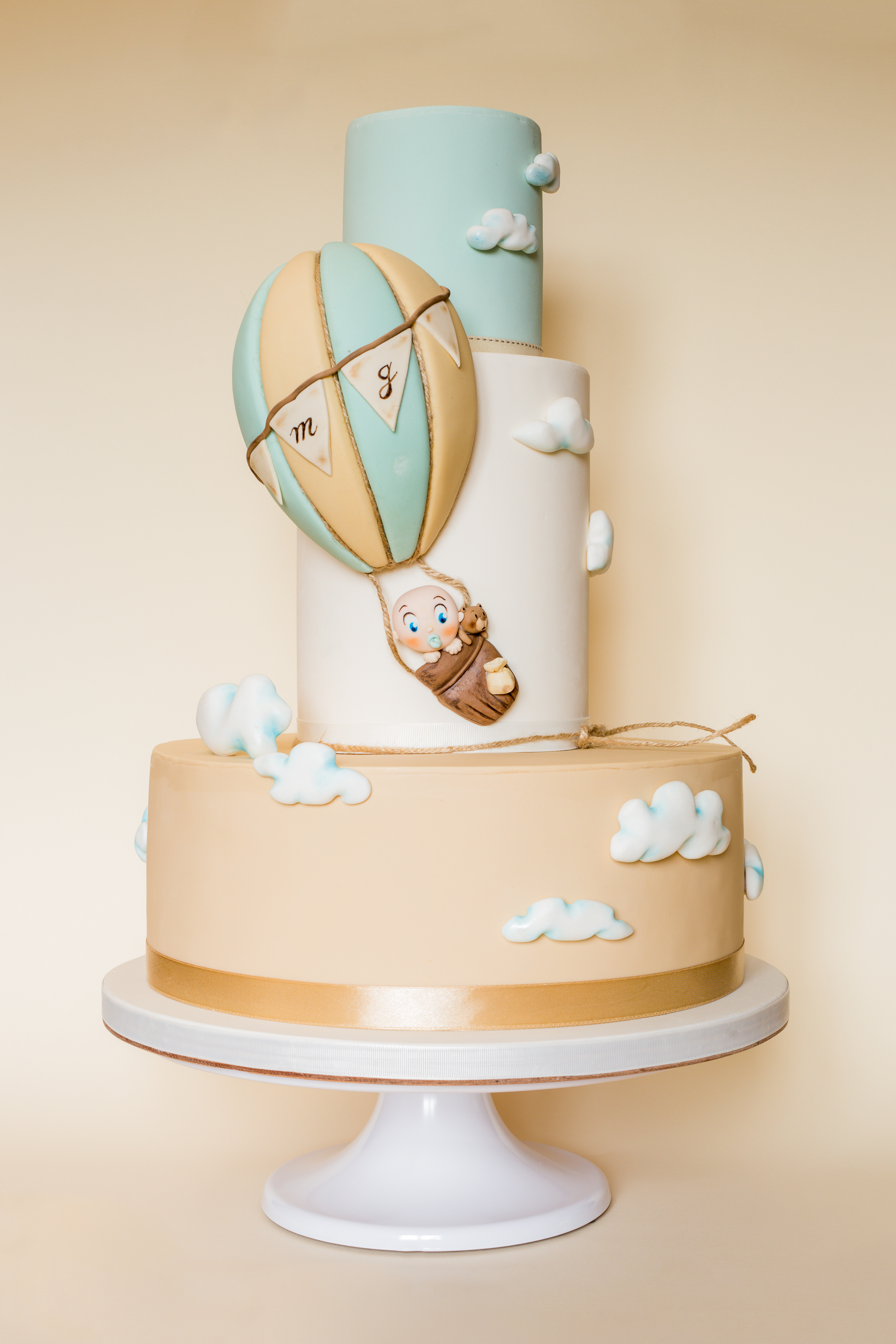 Hot Air Balloon baby cake