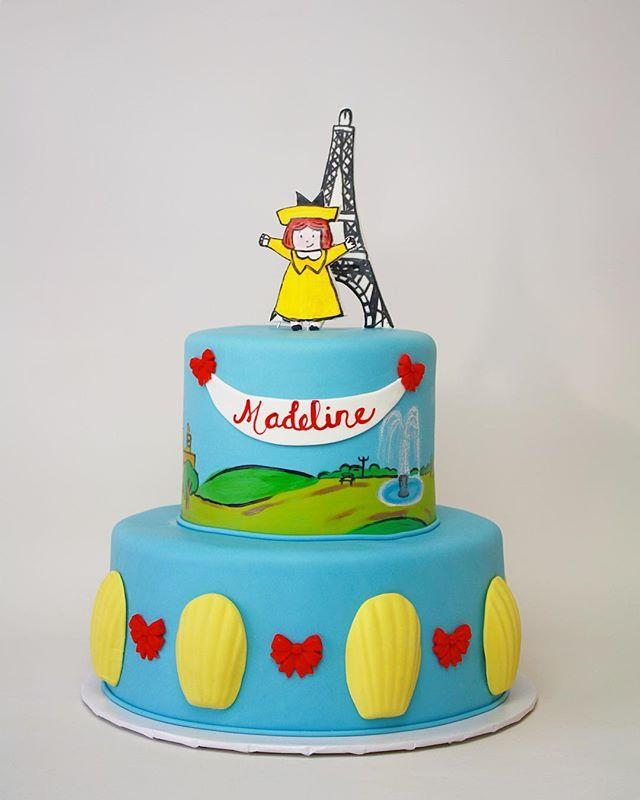Madeline themed birthday cake