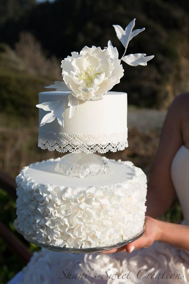 White ruffle wedding