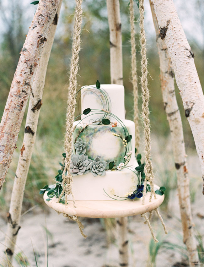 White Wedding with succulents