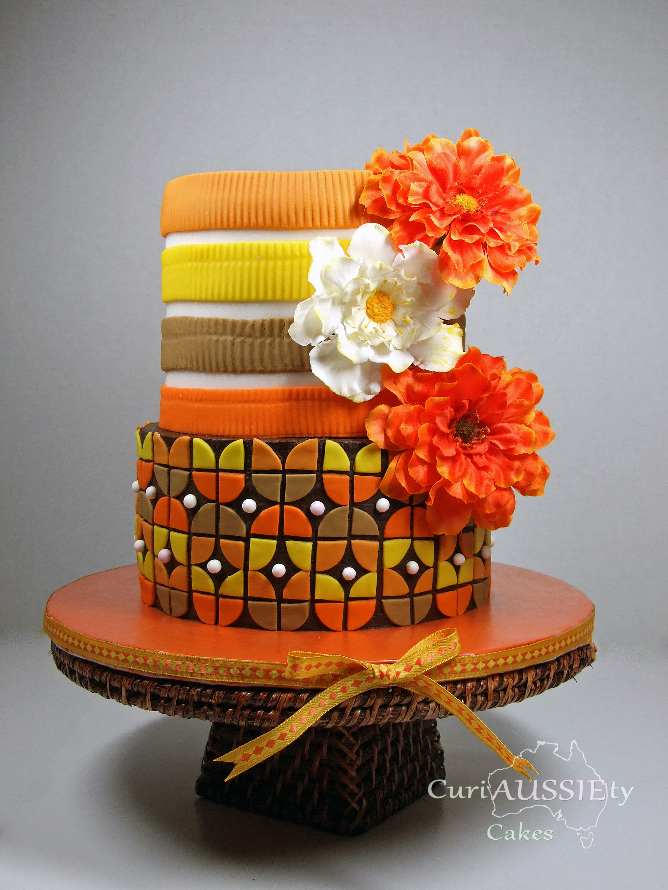 Orange Patterned Wedding