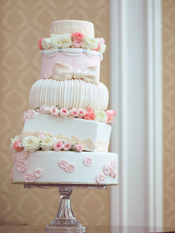 Pink Flower Topsy Turvy Cake