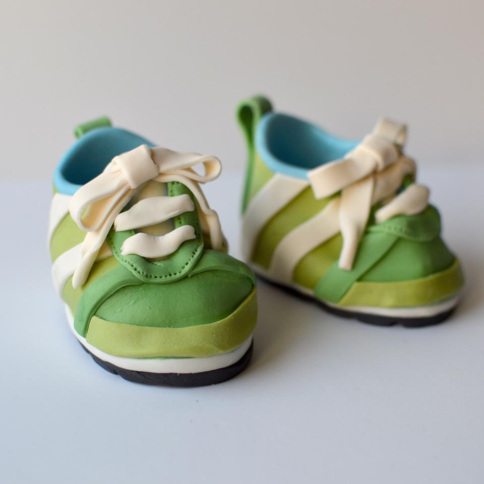 Green baby sugar shoes