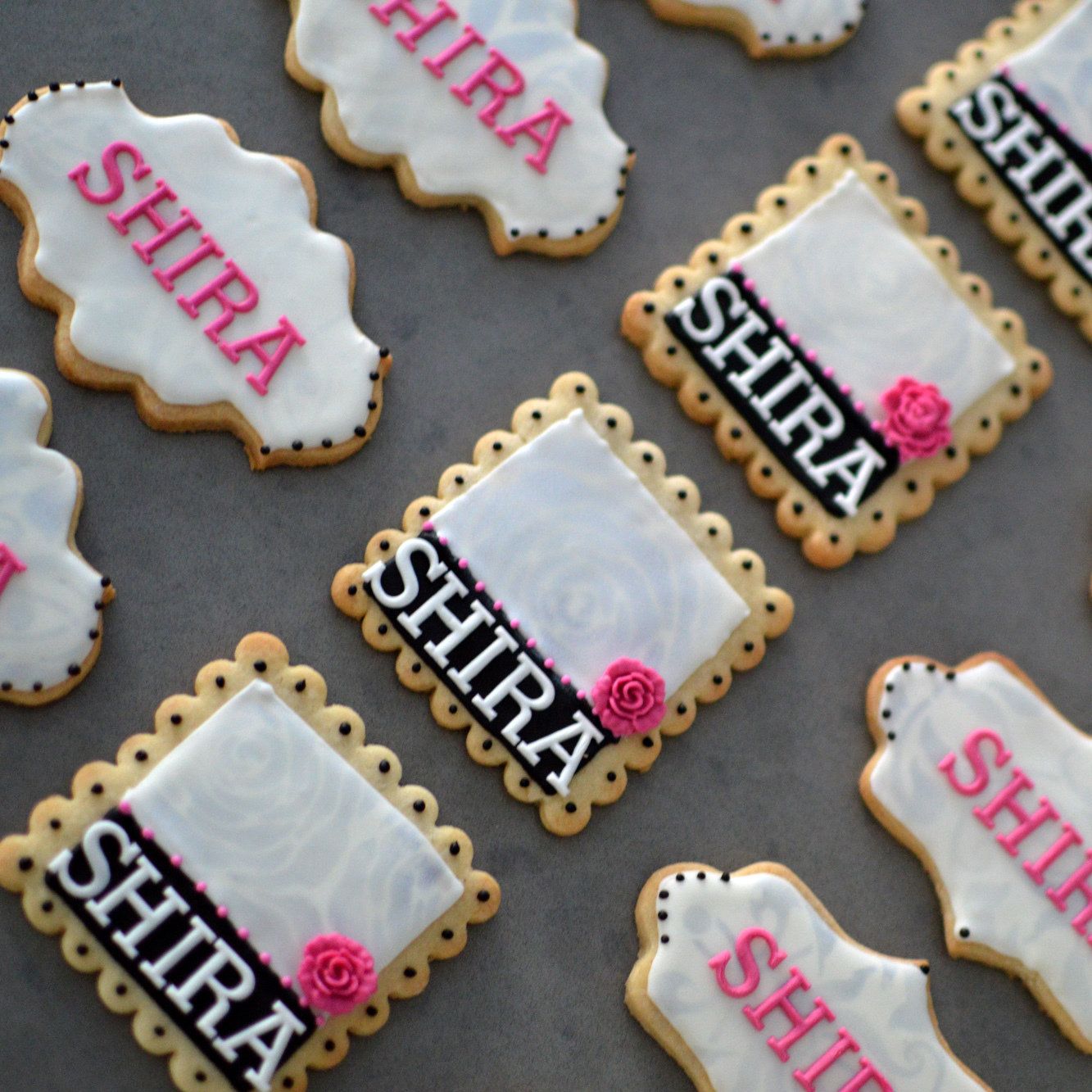 Name Plaque cookie