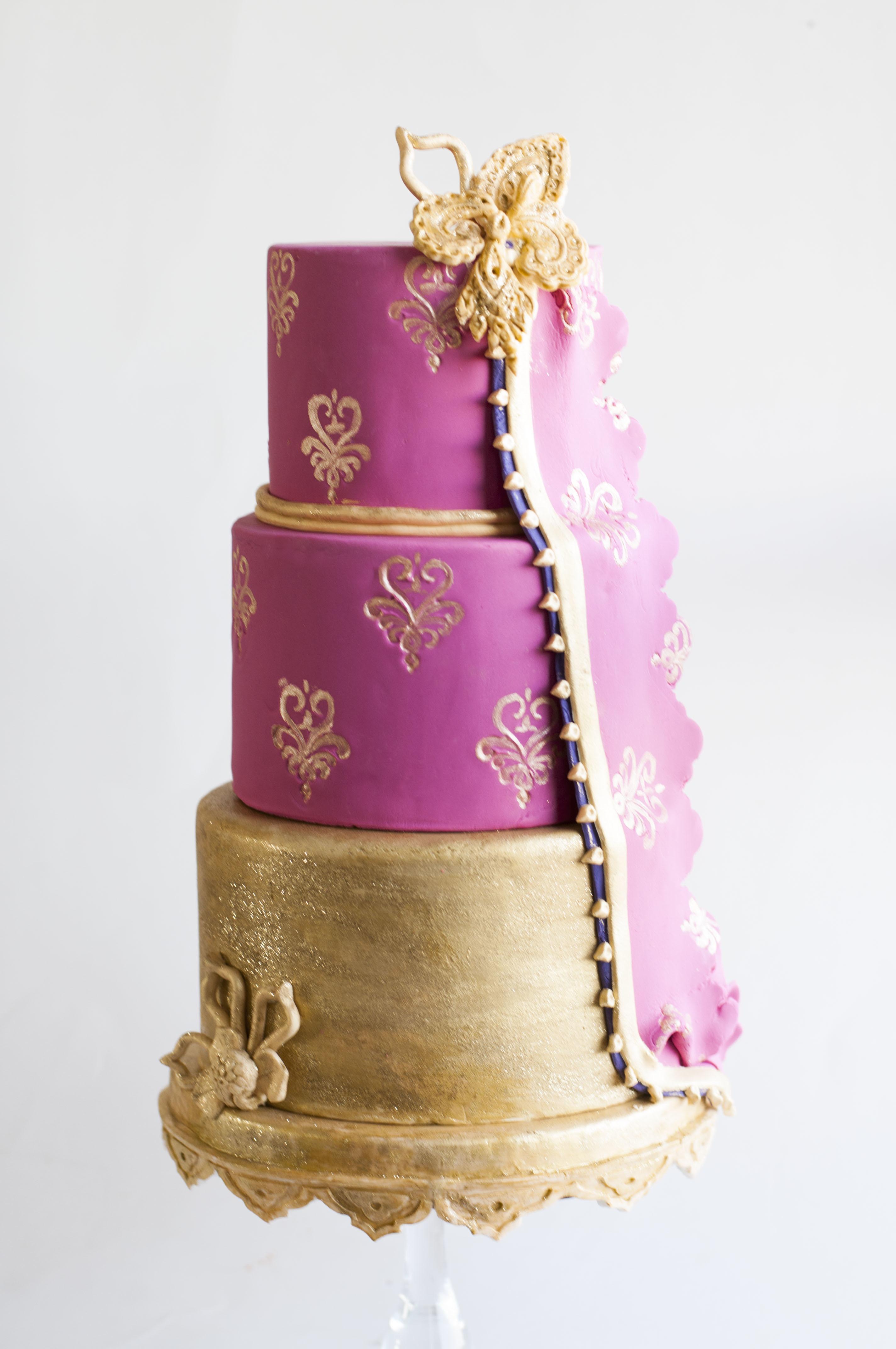 Hot Pink & Gold Wedding