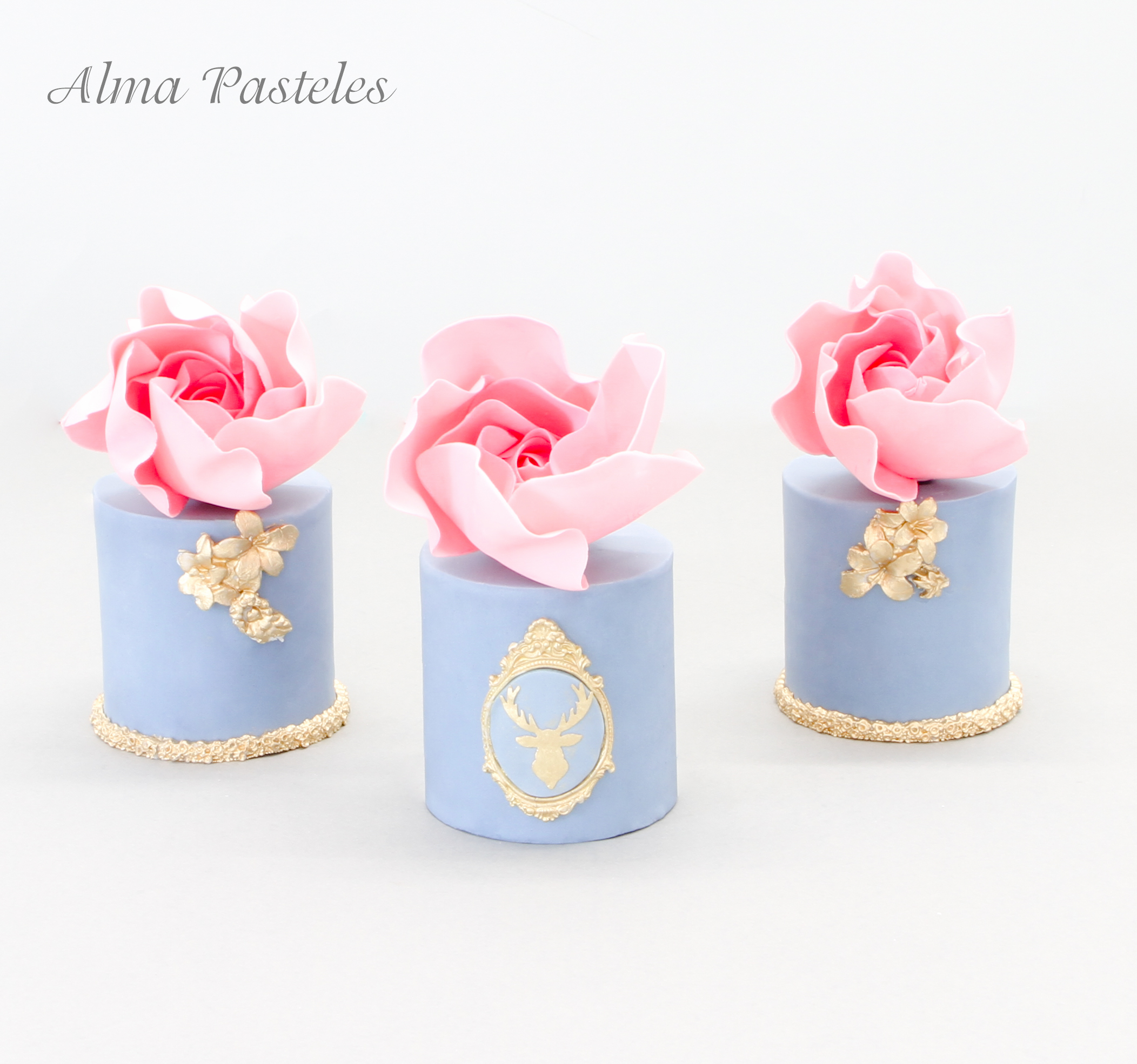 Baby blue petite fours