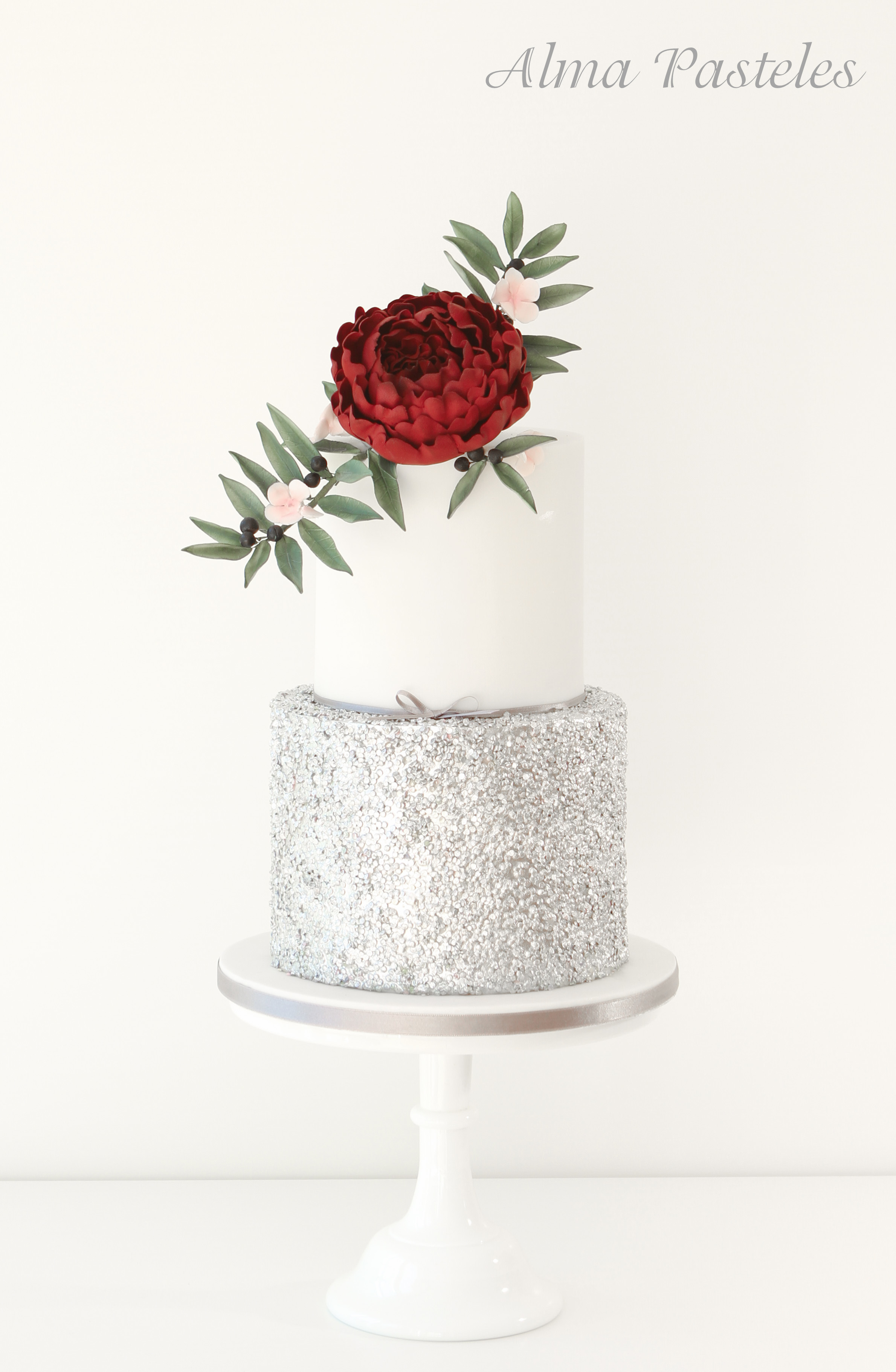 Silver and white wedding