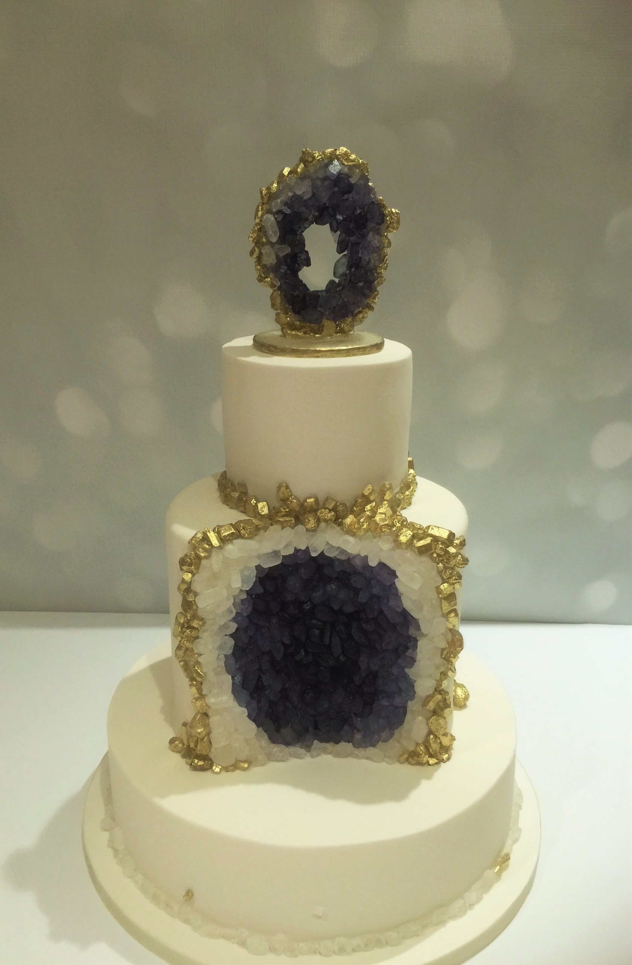 Rock Geode Wedding Cake