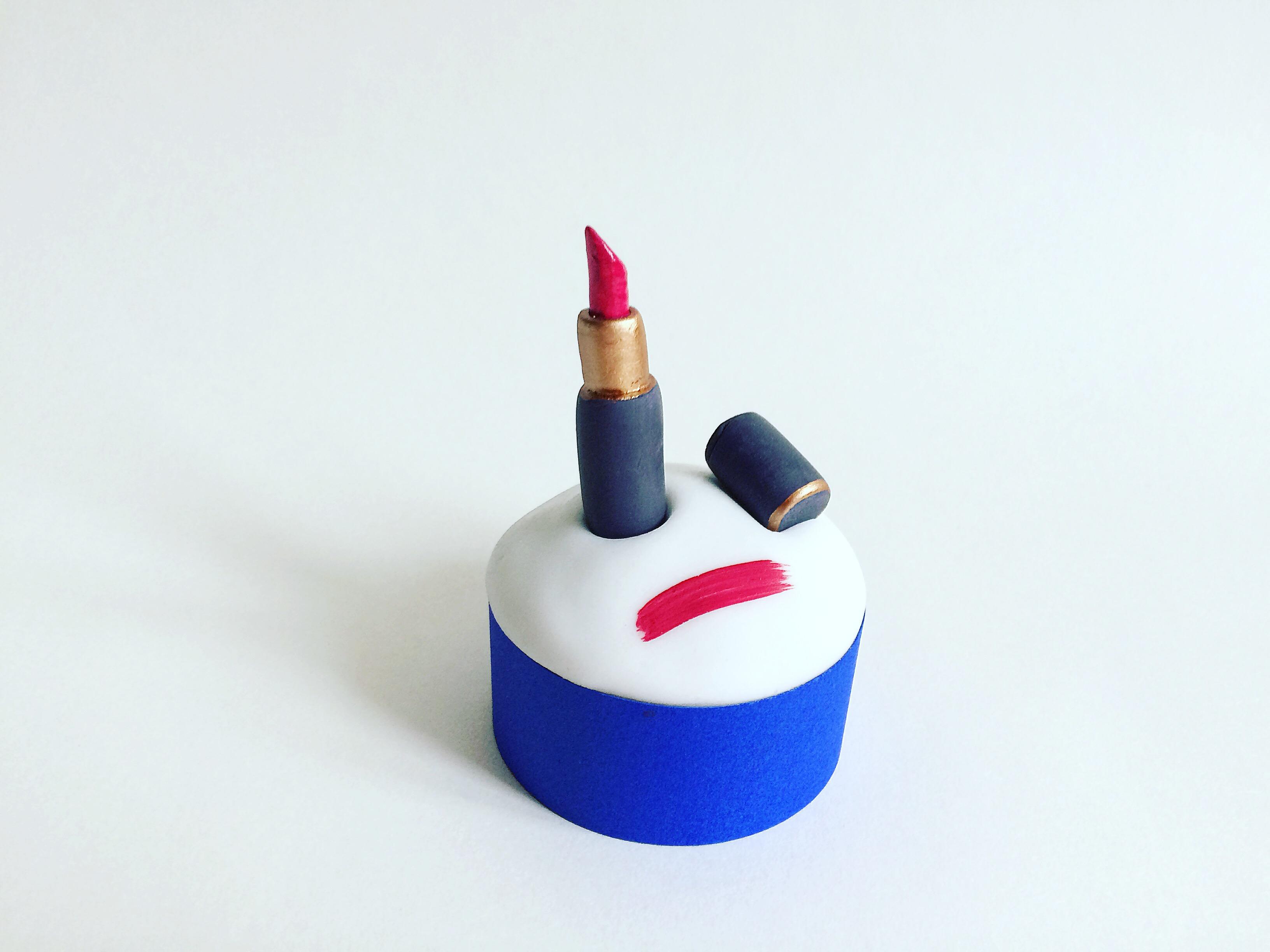 Fondant Lipstick cupcakes