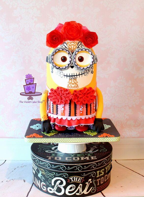 Day of the dead minion cake