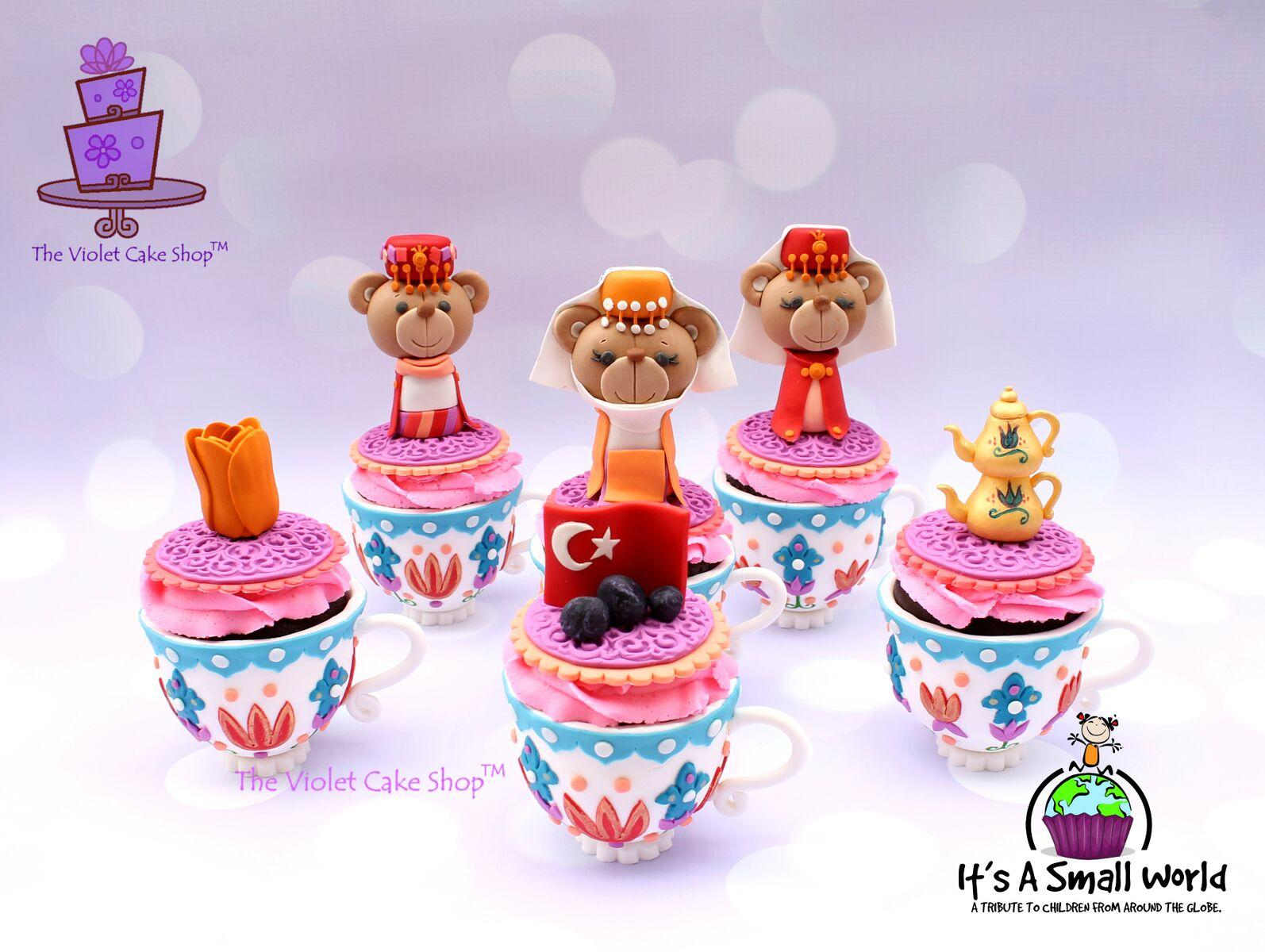 Bear Tea Party Cupcake Toppers