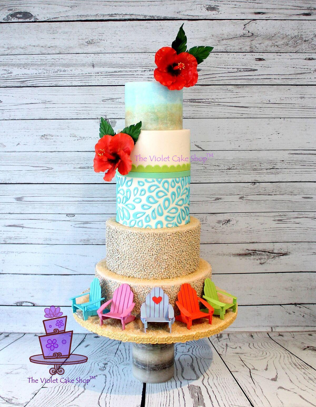 Summer Beach themed cake