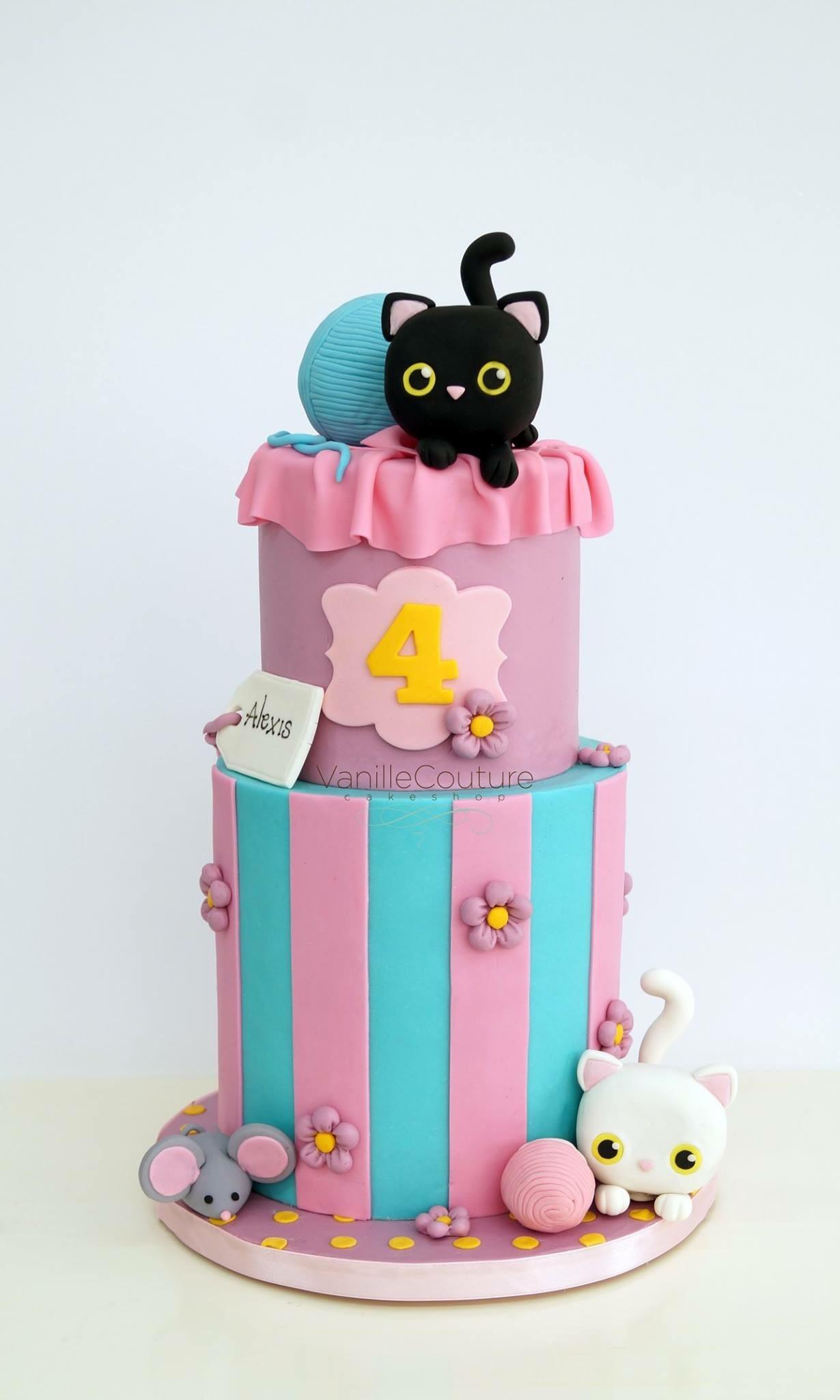 Striped Kitty Cake