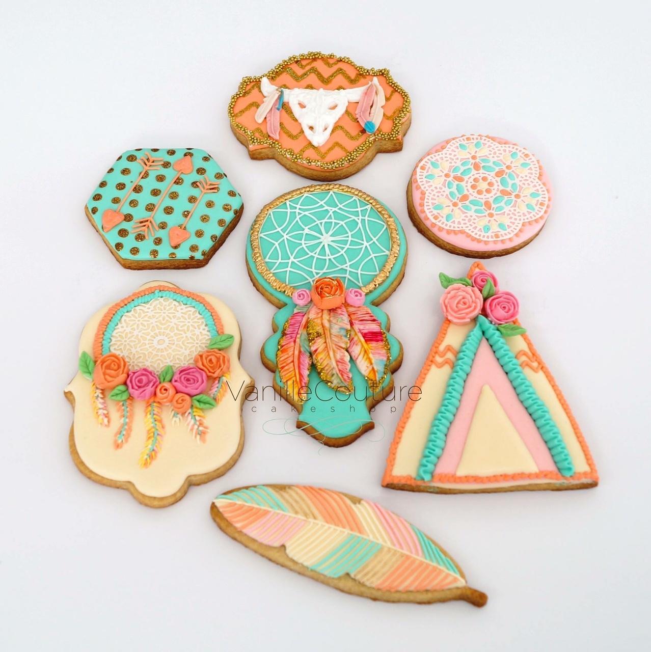 Bohemian fondant Cookies