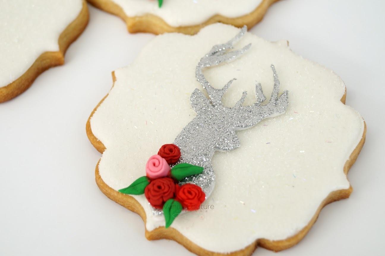 White & Silver Reindeer Cookies