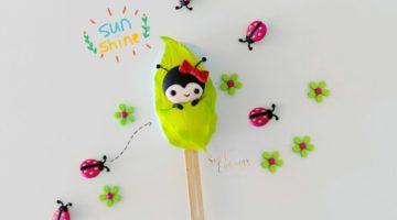 ladybug cakesicle
