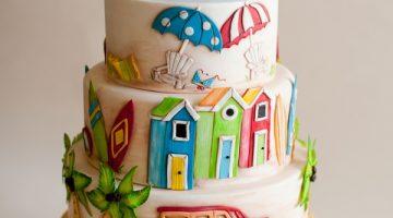 Summer Beach Themed Cake
