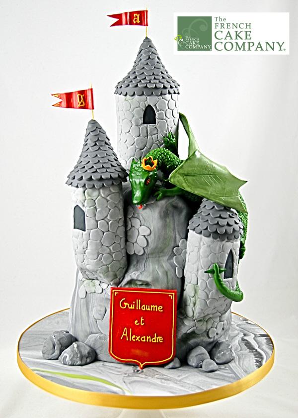 Sculpted Castle & Dragon