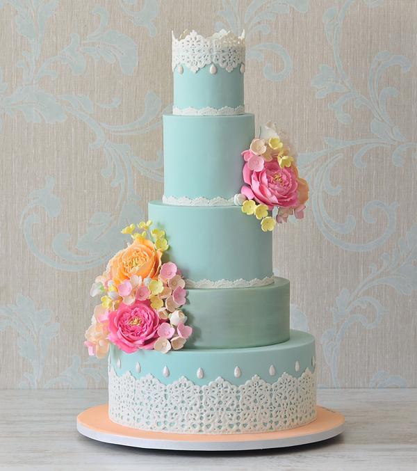 Turquoise Lace Wedding