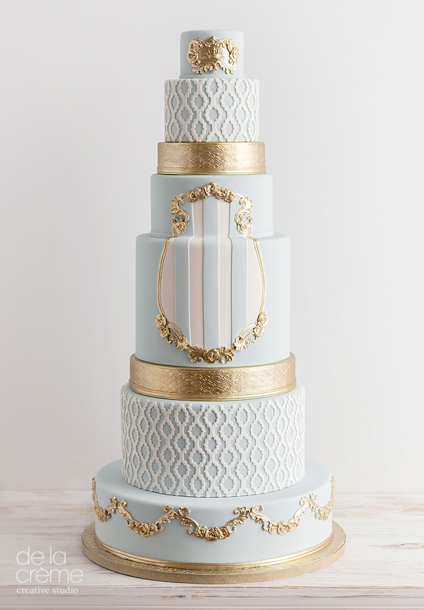 Heidi Holmon Baby Blue With Gold Fairy Tale Wedding