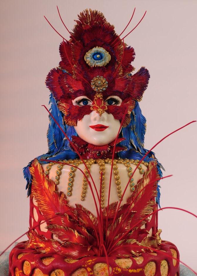 Red Masked Lady Cake