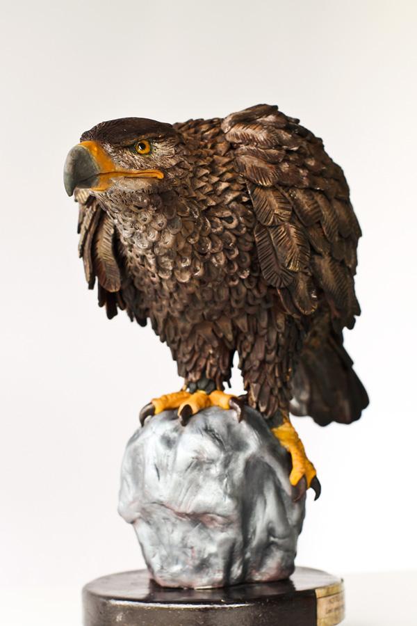 Sculpted perched eagle