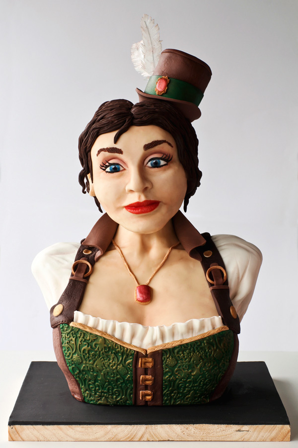 Steampunk Woman Bust