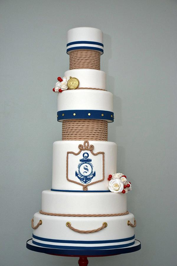 Tall Nautical Wedding
