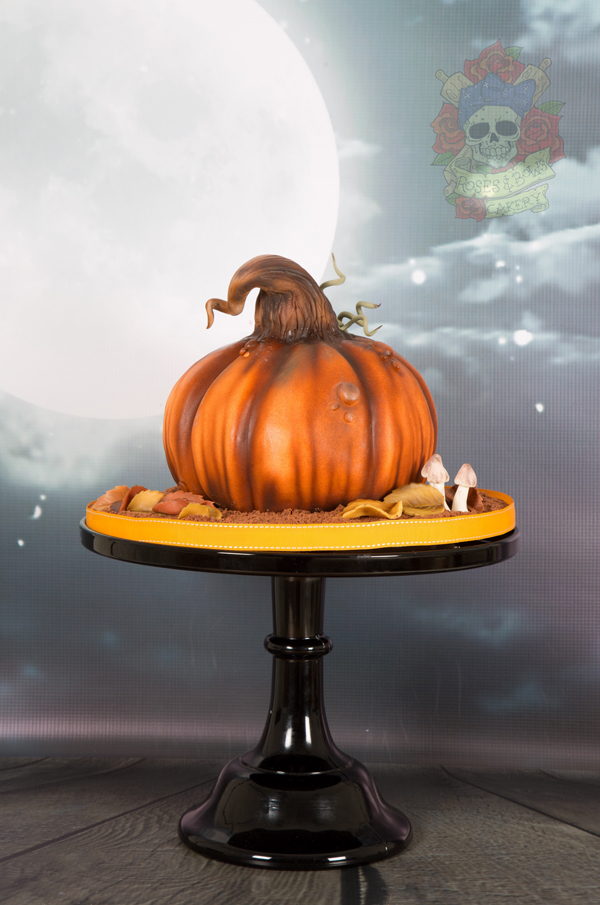 Airbrushed pumpkin