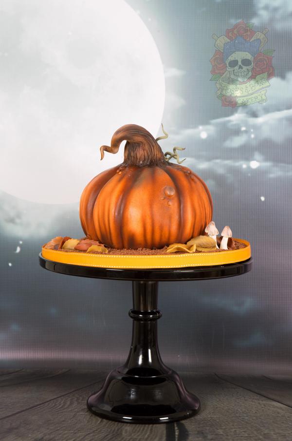 Airbrushed pumpkin